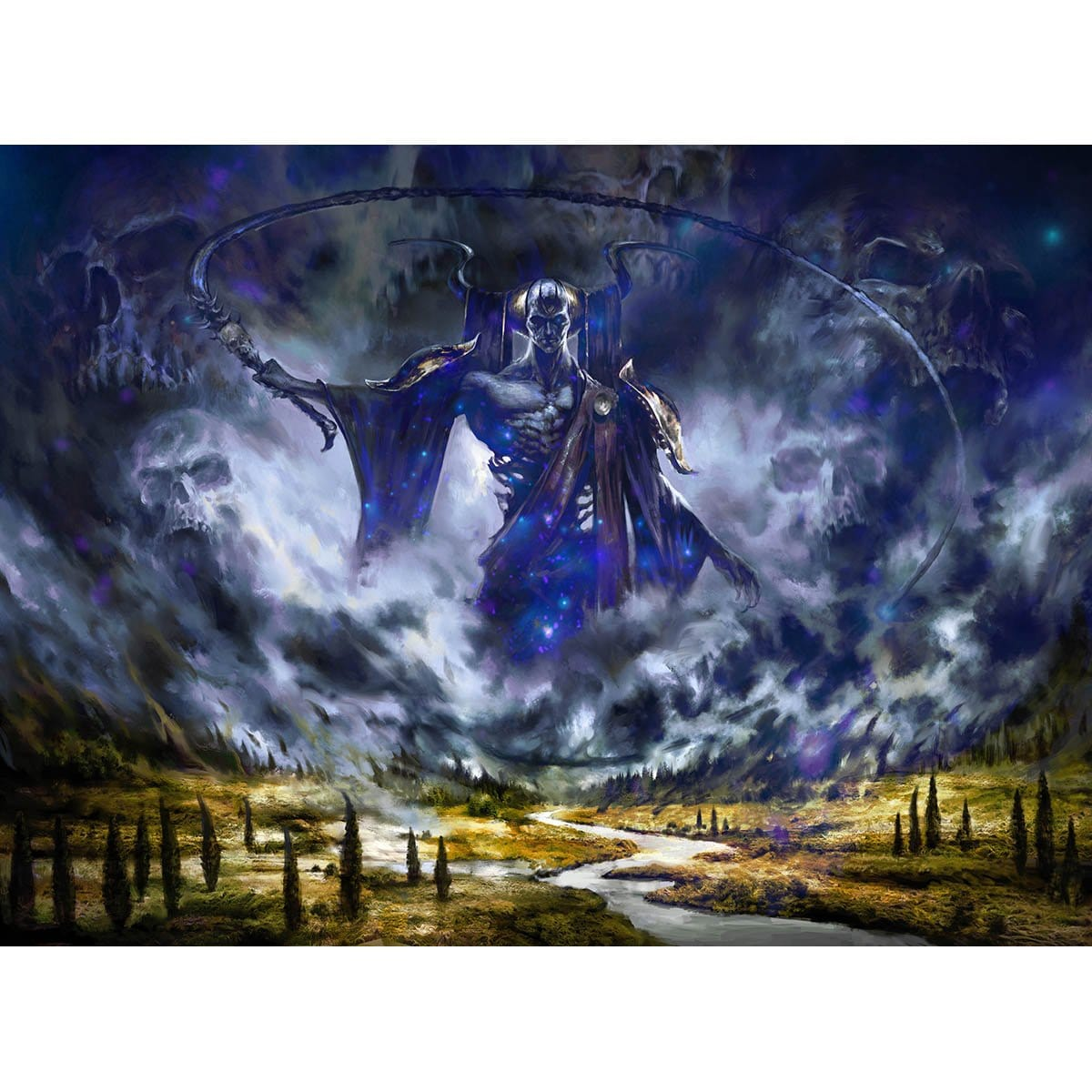 Erebos's Intervention Print - Print - Original Magic Art - Accessories for Magic the Gathering and other card games