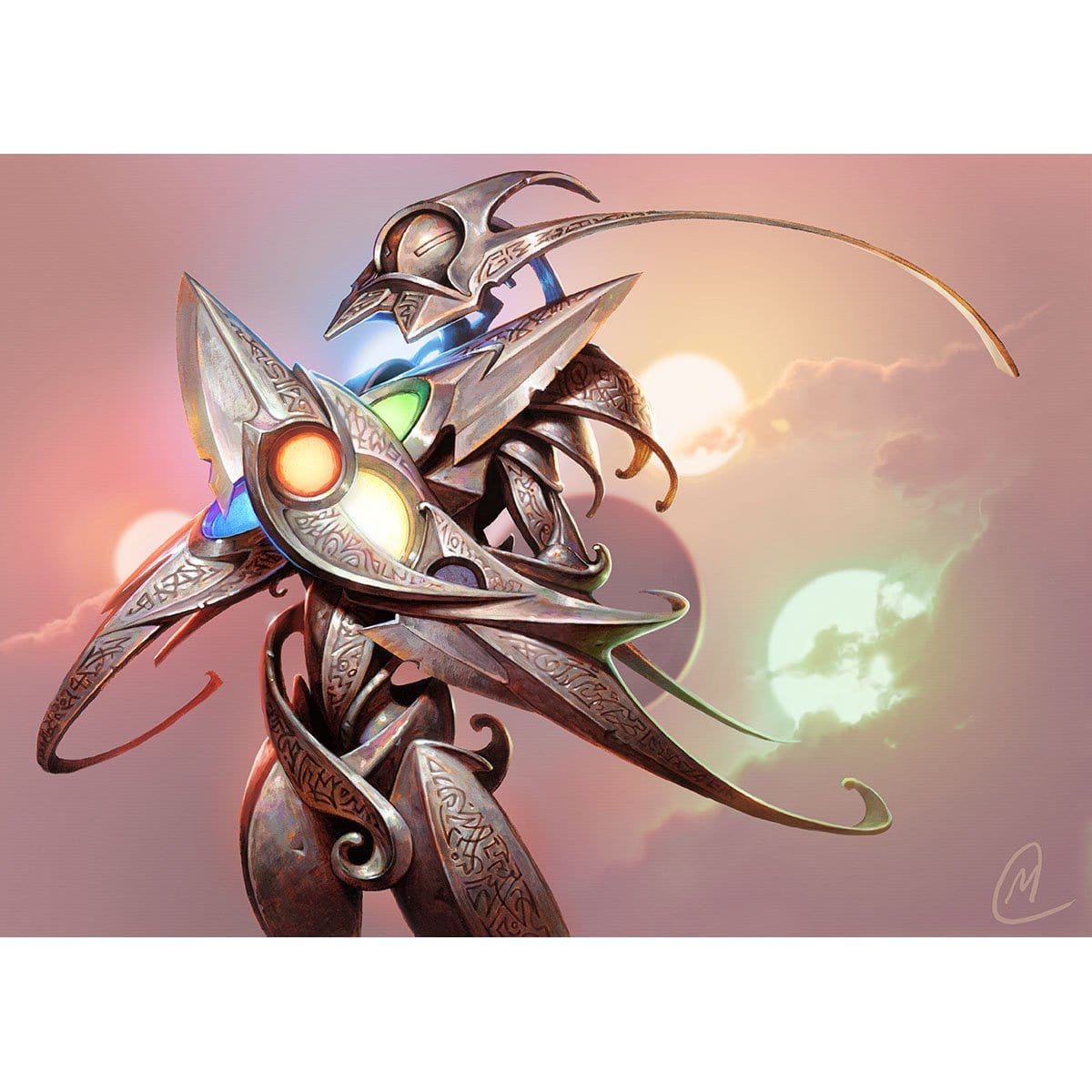 Etched Champion Print - Print - Original Magic Art - Accessories for Magic the Gathering and other card games