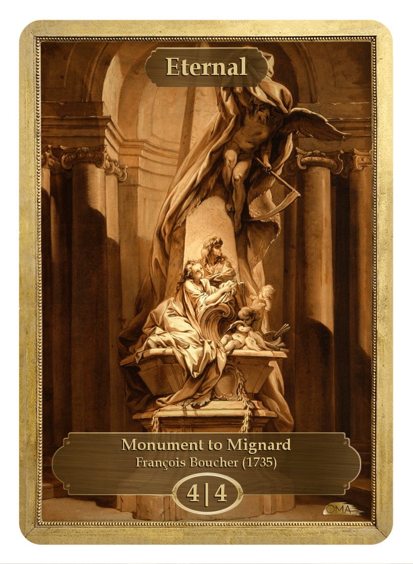 Eternal Counter by Francois Boucher - Token - Original Magic Art - Accessories for Magic the Gathering and other card games