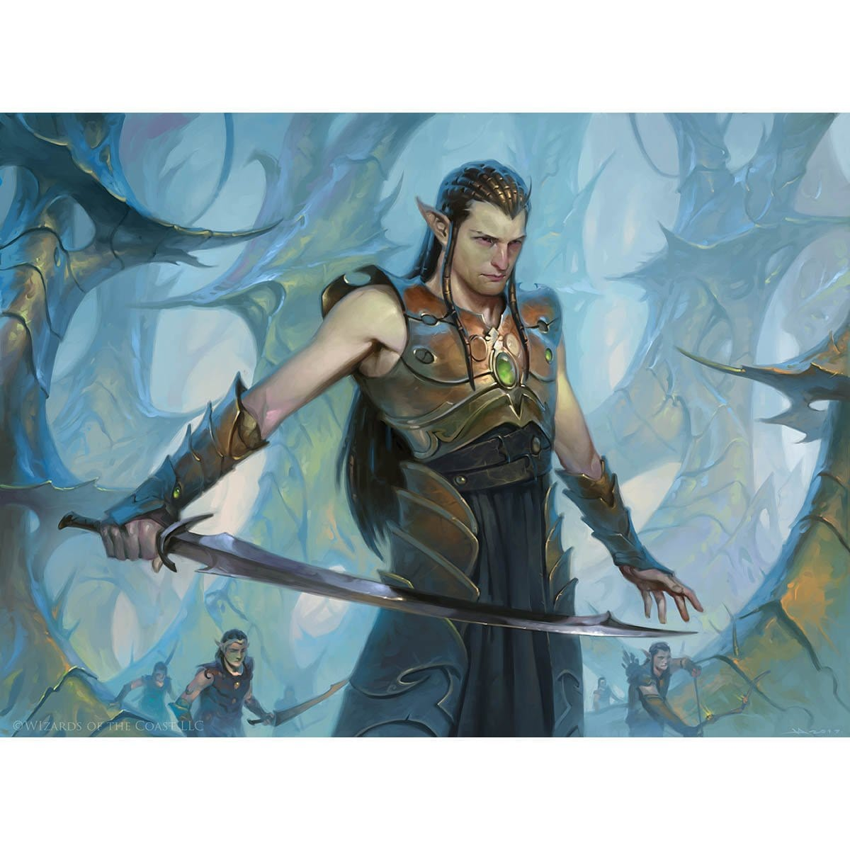 Ezuri, Renegade Leader Print - Print - Original Magic Art - Accessories for Magic the Gathering and other card games