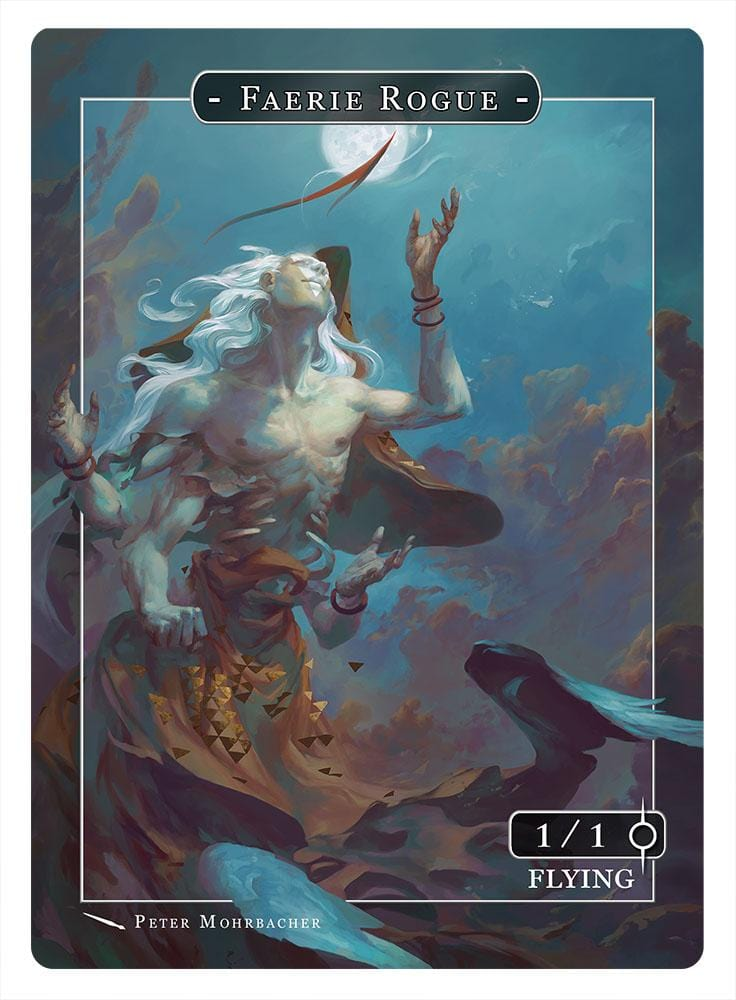 Faerie Rogue Token (1-1 - Flying) by Peter Mohrbacher