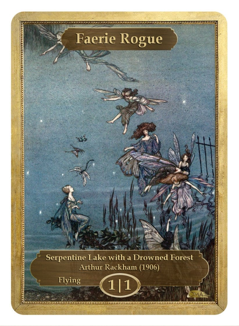 Faerie Rogue Token (1/1) by Arthur Rackham - Token - Original Magic Art - Accessories for Magic the Gathering and other card games