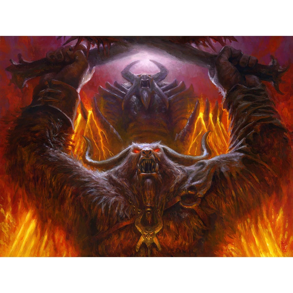 Fanatic of Mogis Print - Print - Original Magic Art - Accessories for Magic the Gathering and other card games