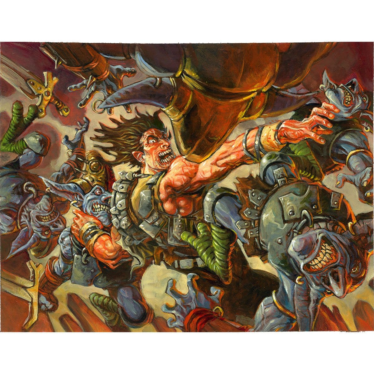 Fatal Frenzy Print - Print - Original Magic Art - Accessories for Magic the Gathering and other card games