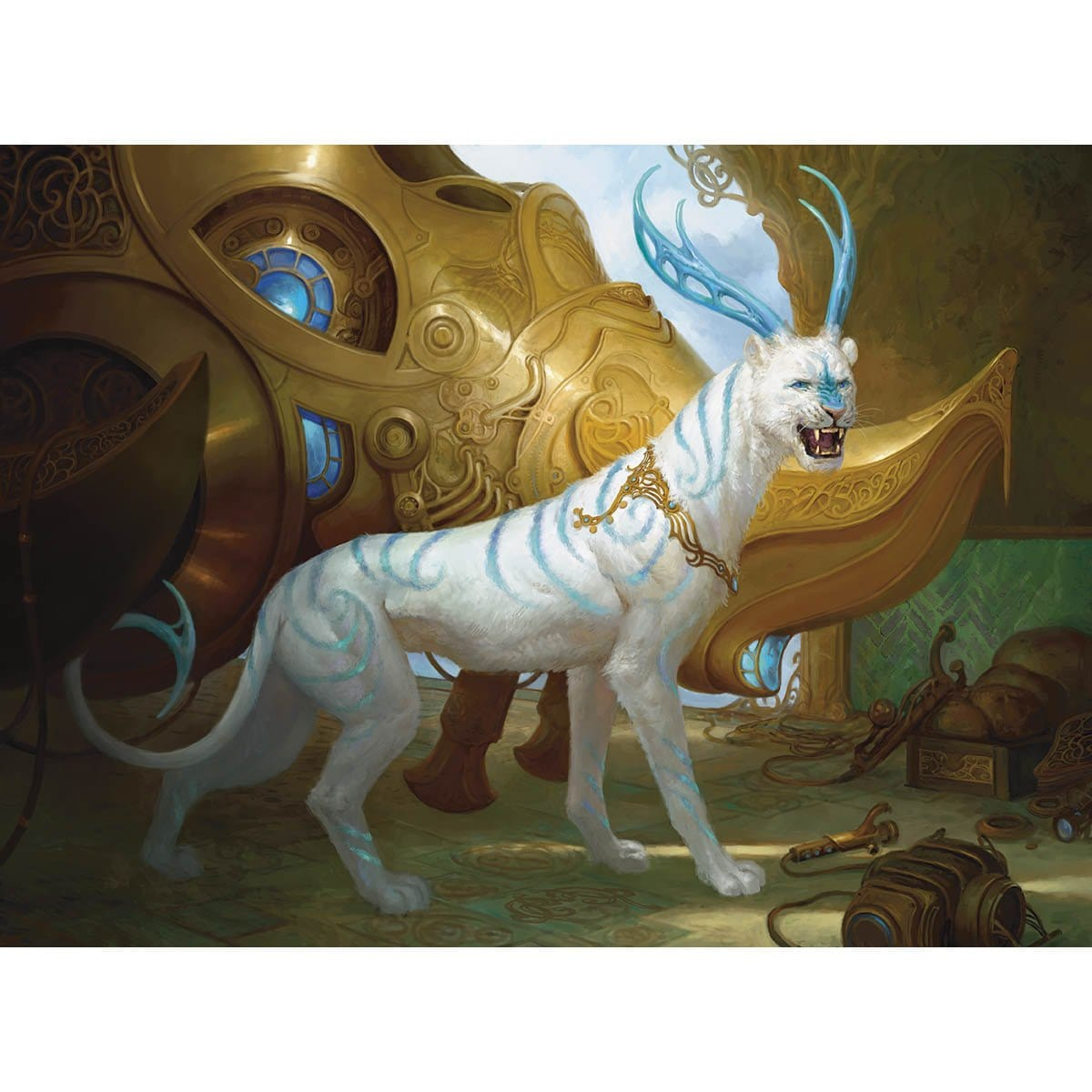Felidar Guardian Print - Print - Original Magic Art - Accessories for Magic the Gathering and other card games