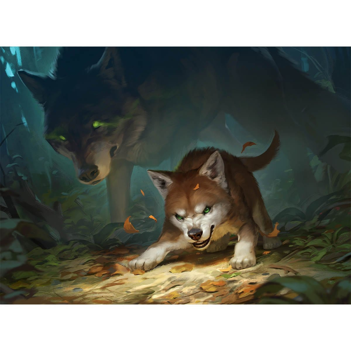 Ferocious Pup Print - Print - Original Magic Art - Accessories for Magic the Gathering and other card games