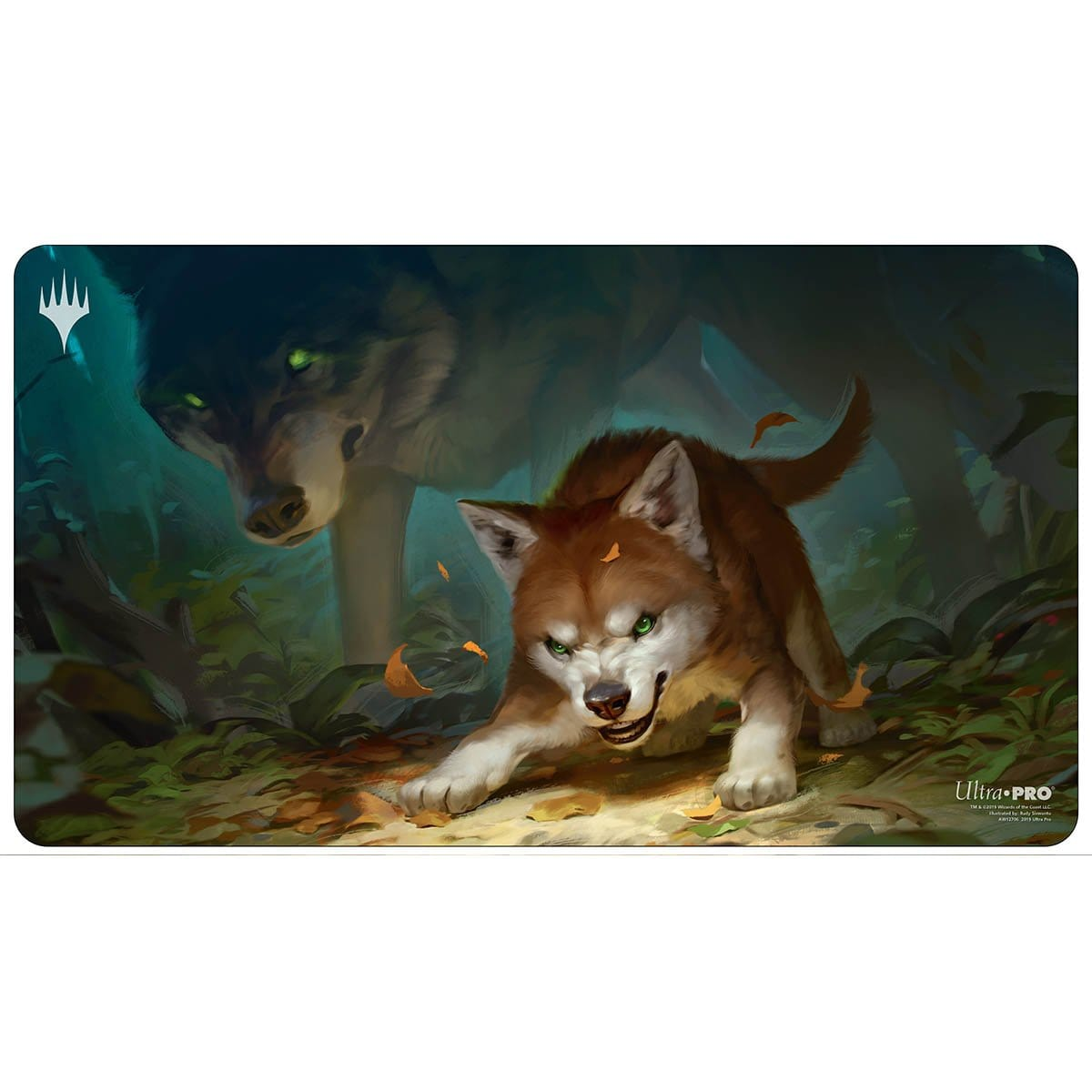 Ferocious Pup Playmat - Playmat - Original Magic Art - Accessories for Magic the Gathering and other card games