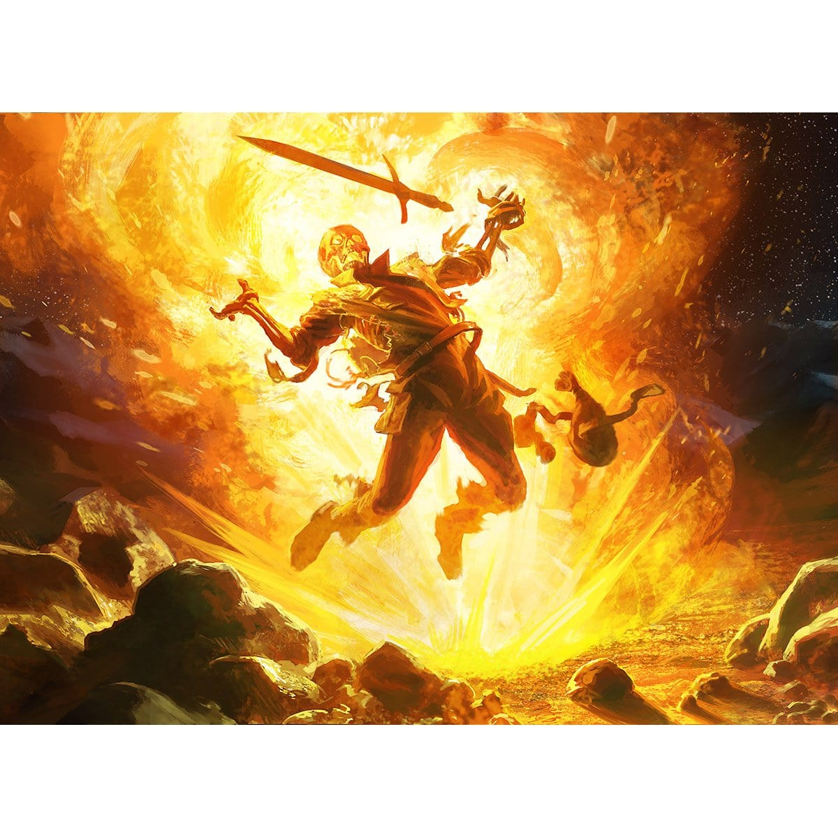 Fireblast Print - Print - Original Magic Art - Accessories for Magic the Gathering and other card games