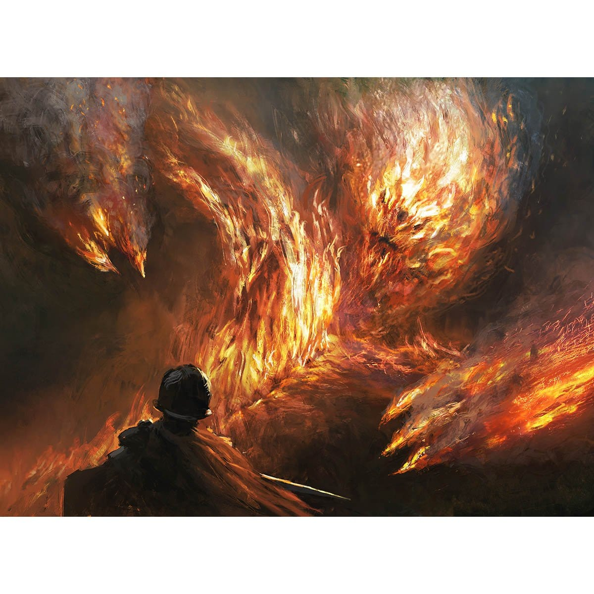 Firefiend Elemental Print - Print - Original Magic Art - Accessories for Magic the Gathering and other card games
