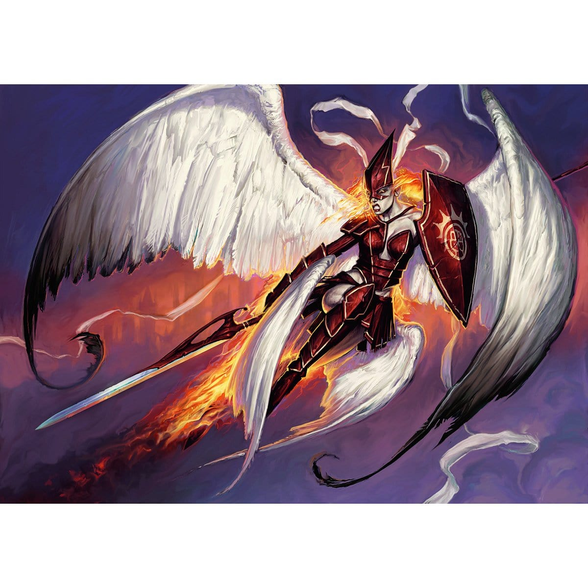 Firemane Angel Print - Print - Original Magic Art - Accessories for Magic the Gathering and other card games