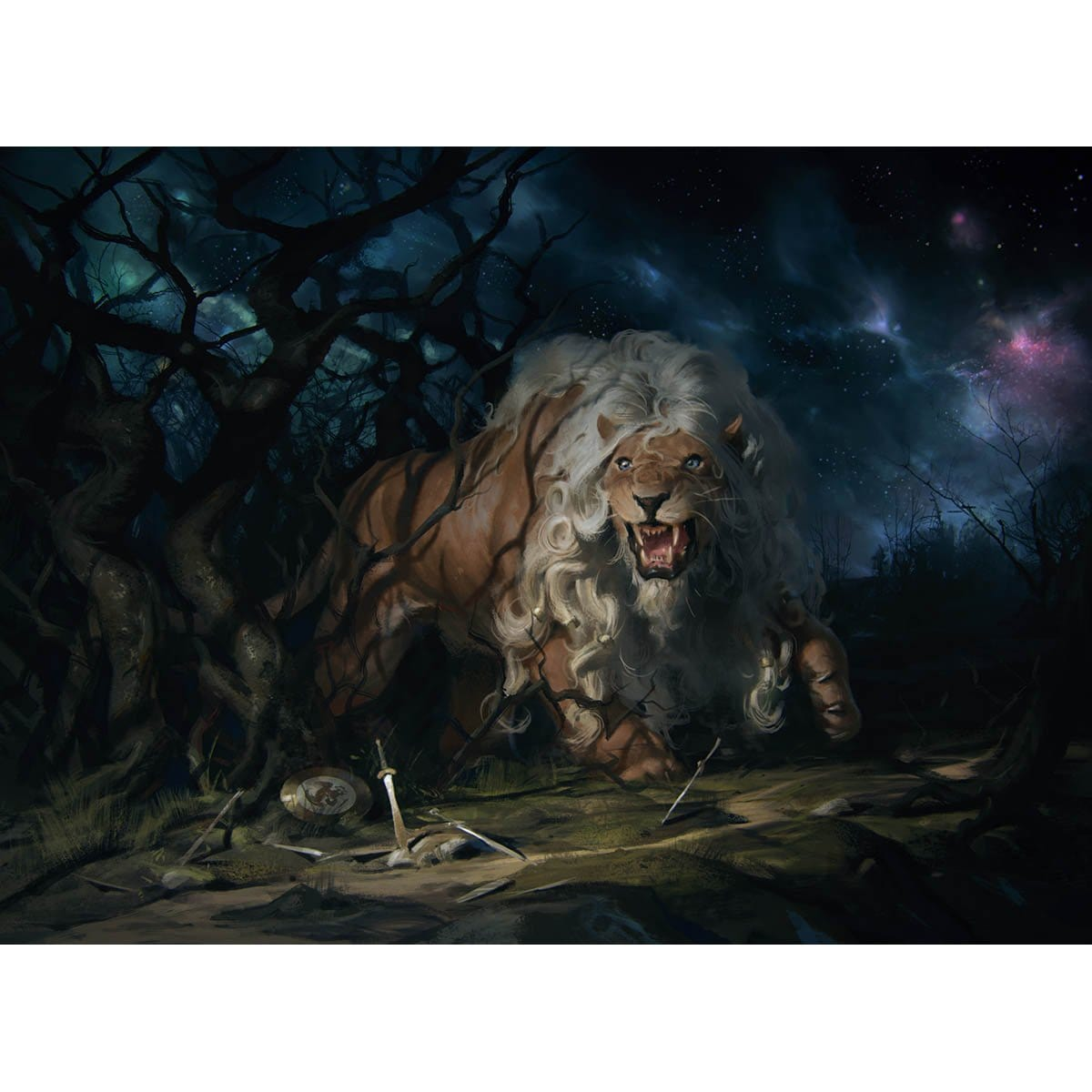 Fleecemane Lion Print - Print - Original Magic Art - Accessories for Magic the Gathering and other card games
