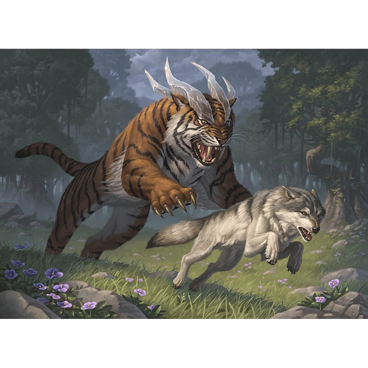 Food Chain Print - Print - Original Magic Art - Accessories for Magic the Gathering and other card games
