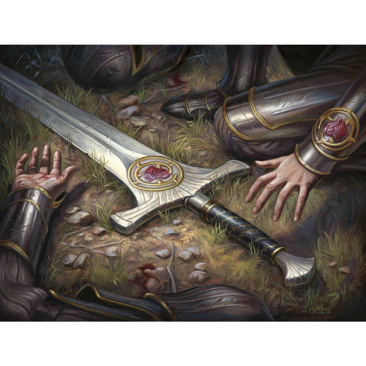 Forebear's Blade Print - Print - Original Magic Art - Accessories for Magic the Gathering and other card games