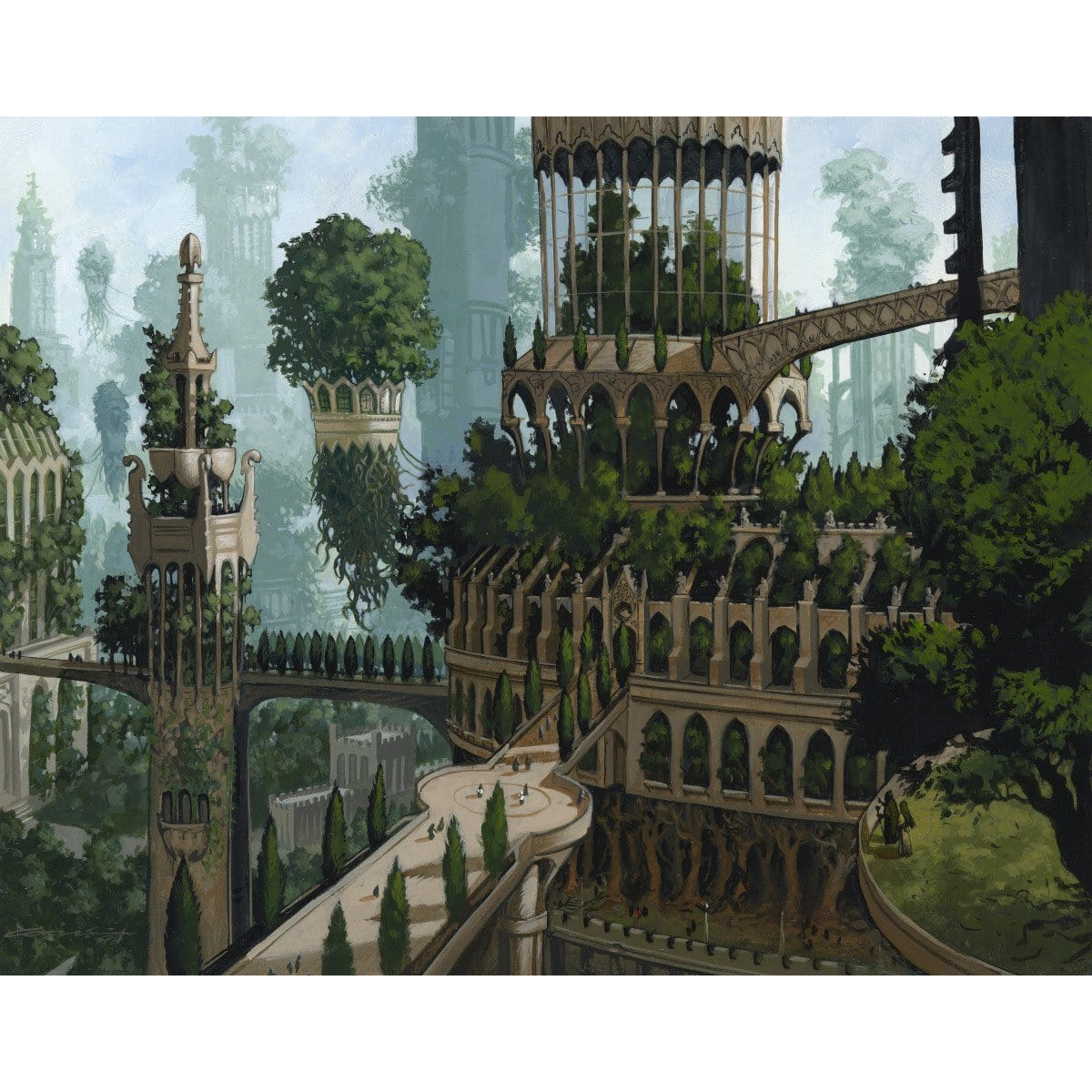 Forest (Ravnica) Print - Print - Original Magic Art - Accessories for Magic the Gathering and other card games