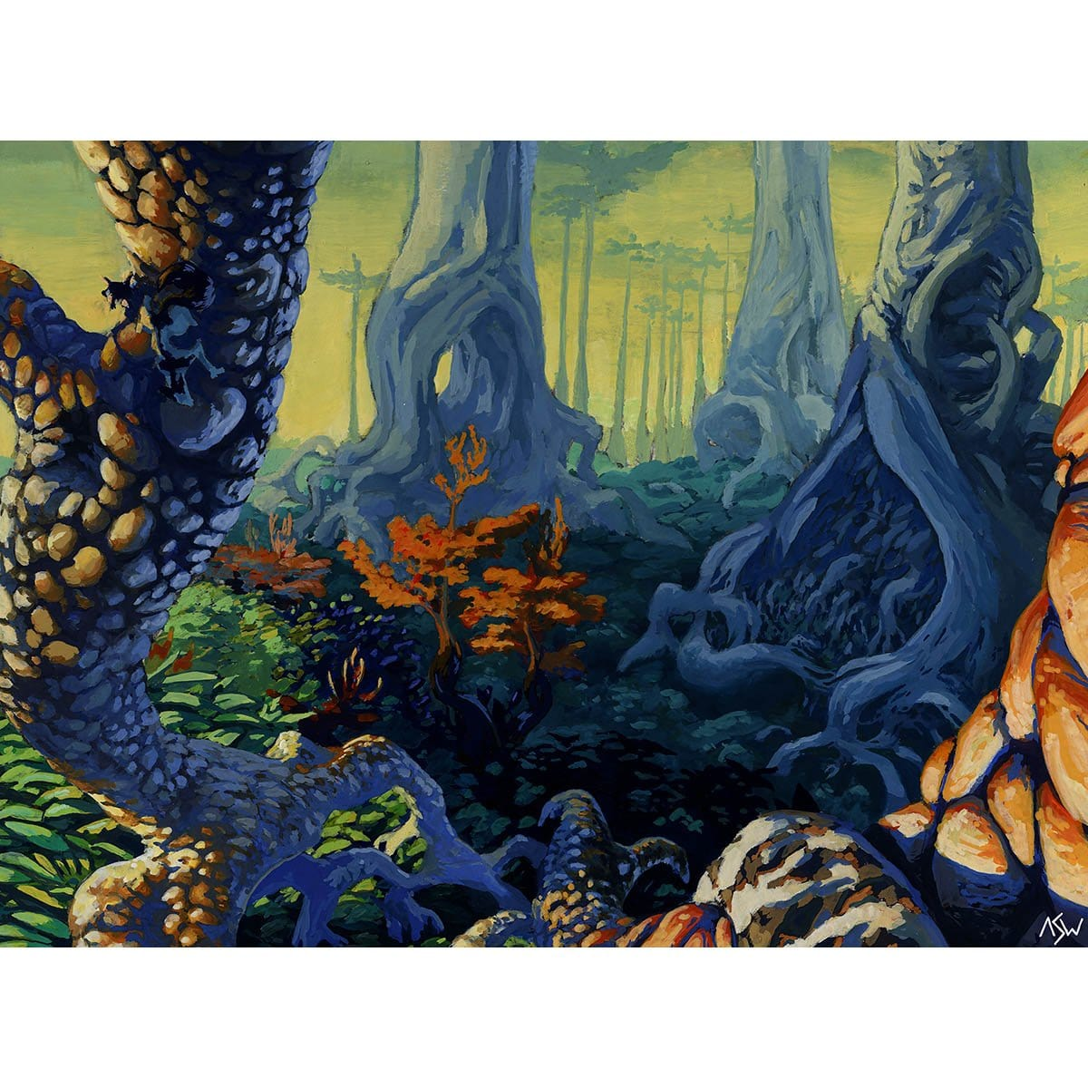 Forest (Urza's Saga - C) Print - Print - Original Magic Art - Accessories for Magic the Gathering and other card games