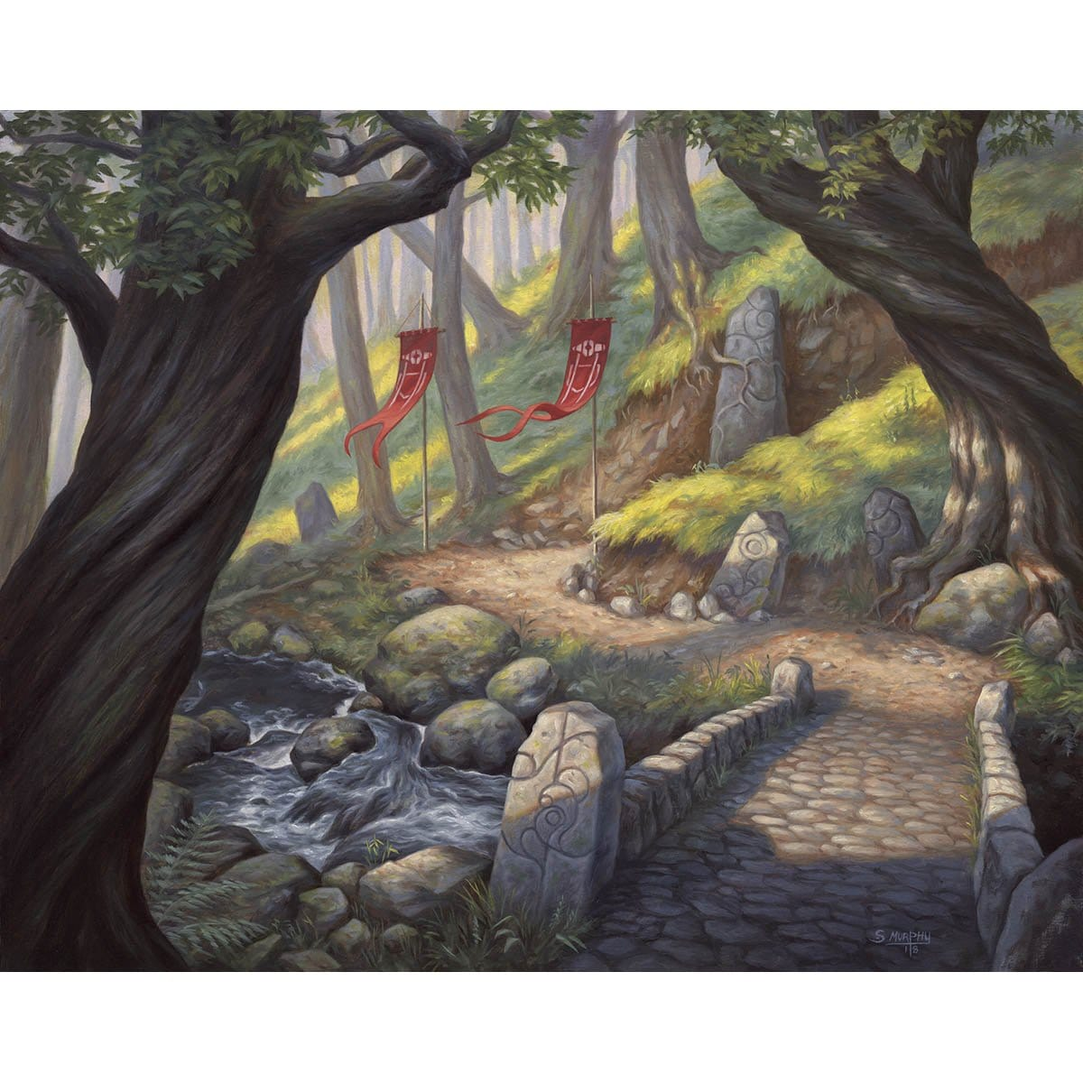 Forest (Throne of Eldraine) Print - Print - Original Magic Art - Accessories for Magic the Gathering and other card games