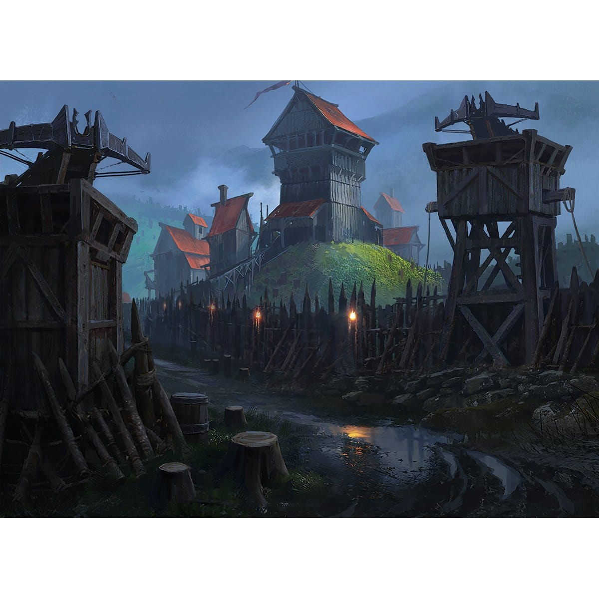 Fortified Village Print