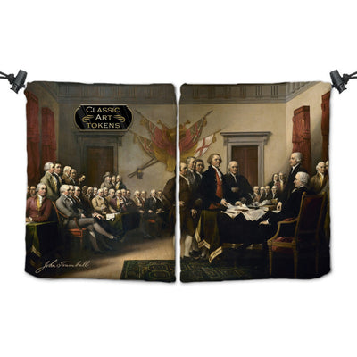 Freedom Dice Bag by John Trumbull - Dice Bag - Original Magic Art - Accessories for Magic the Gathering and other card games