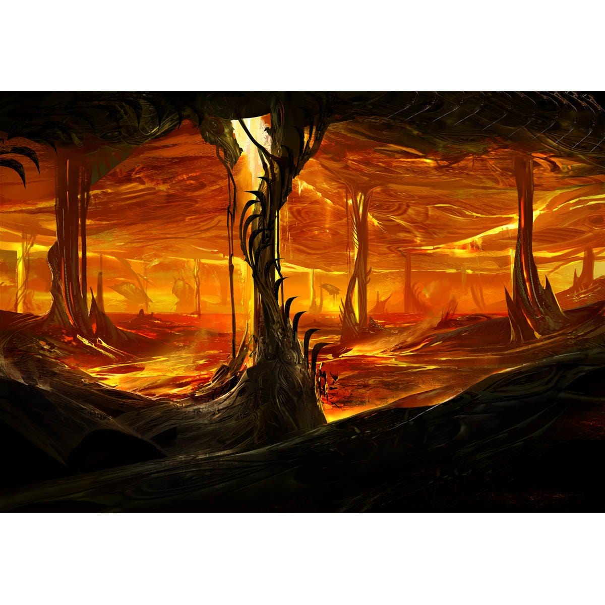 Furnace Layer Print - Print - Original Magic Art - Accessories for Magic the Gathering and other card games