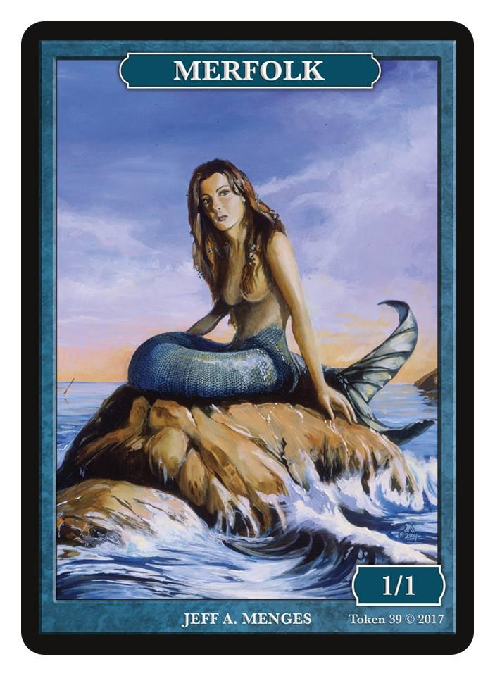 Merfolk Token (1/1) by Jeff A. Menges
