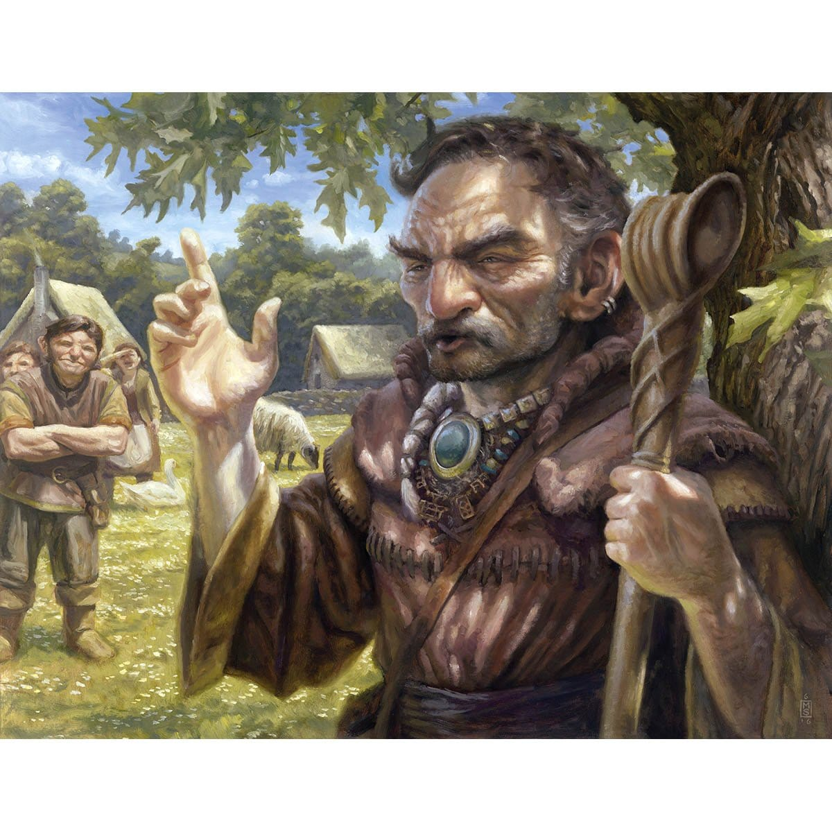 Gaddock Teeg Print - Print - Original Magic Art - Accessories for Magic the Gathering and other card games