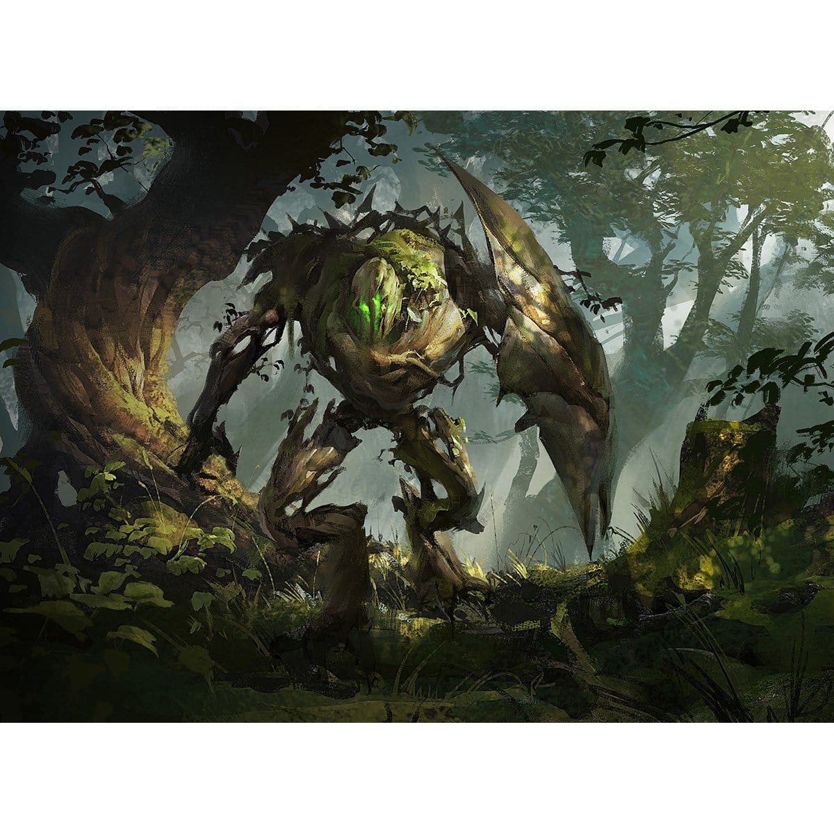 Gaea's Protector Print - Print - Original Magic Art - Accessories for Magic the Gathering and other card games