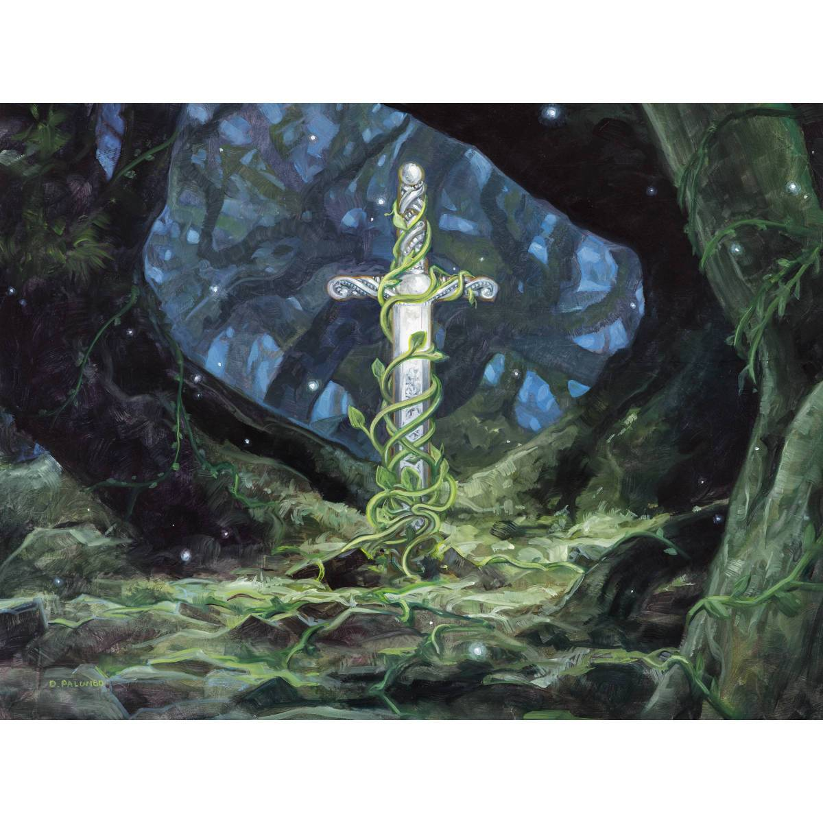 Gaea's Blessing Print - Print - Original Magic Art - Accessories for Magic the Gathering and other card games