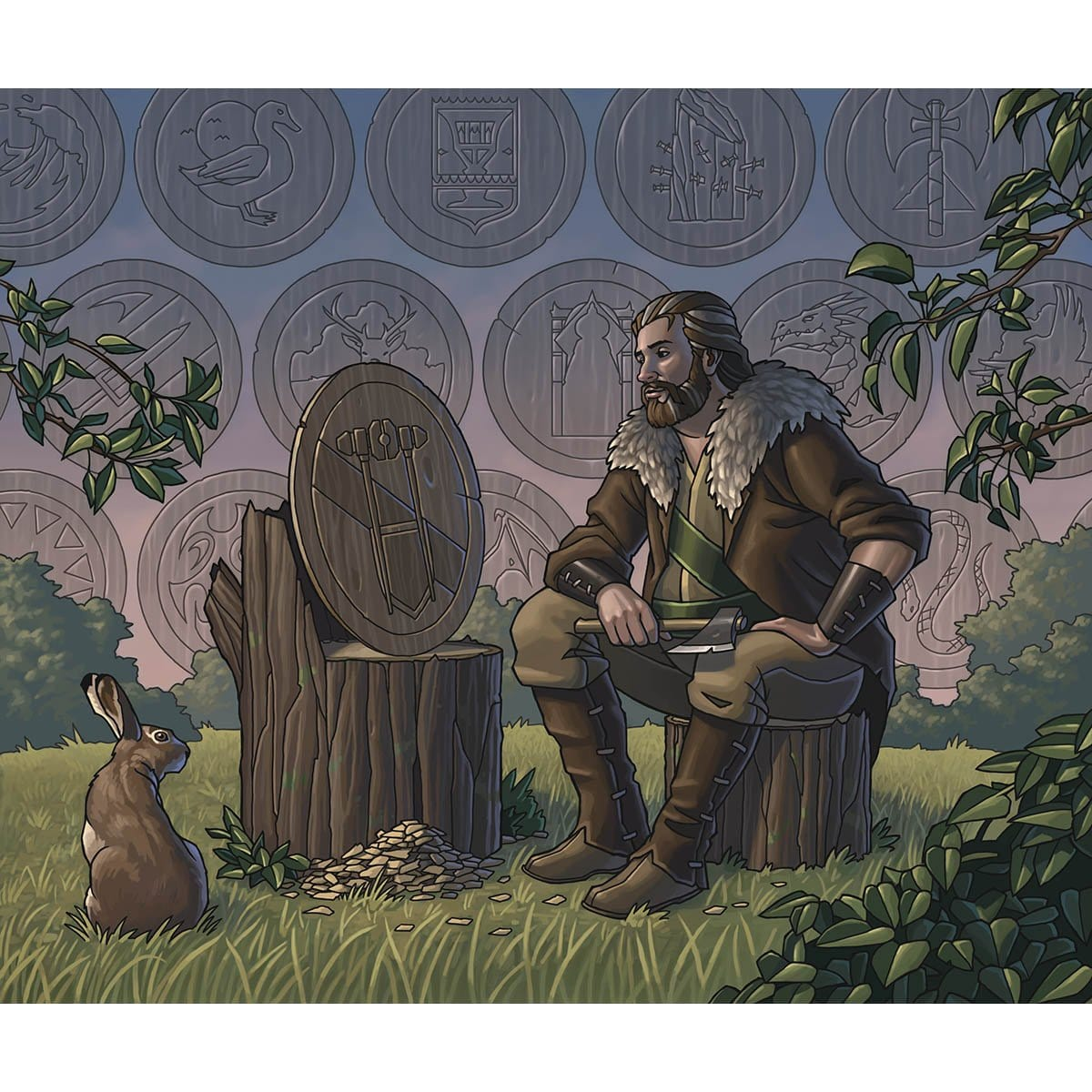 Garenbrig Carver Print - Print - Original Magic Art - Accessories for Magic the Gathering and other card games