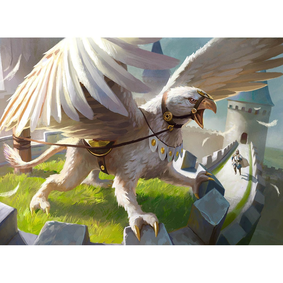 Garrison Griffin Print - Print - Original Magic Art - Accessories for Magic the Gathering and other card games