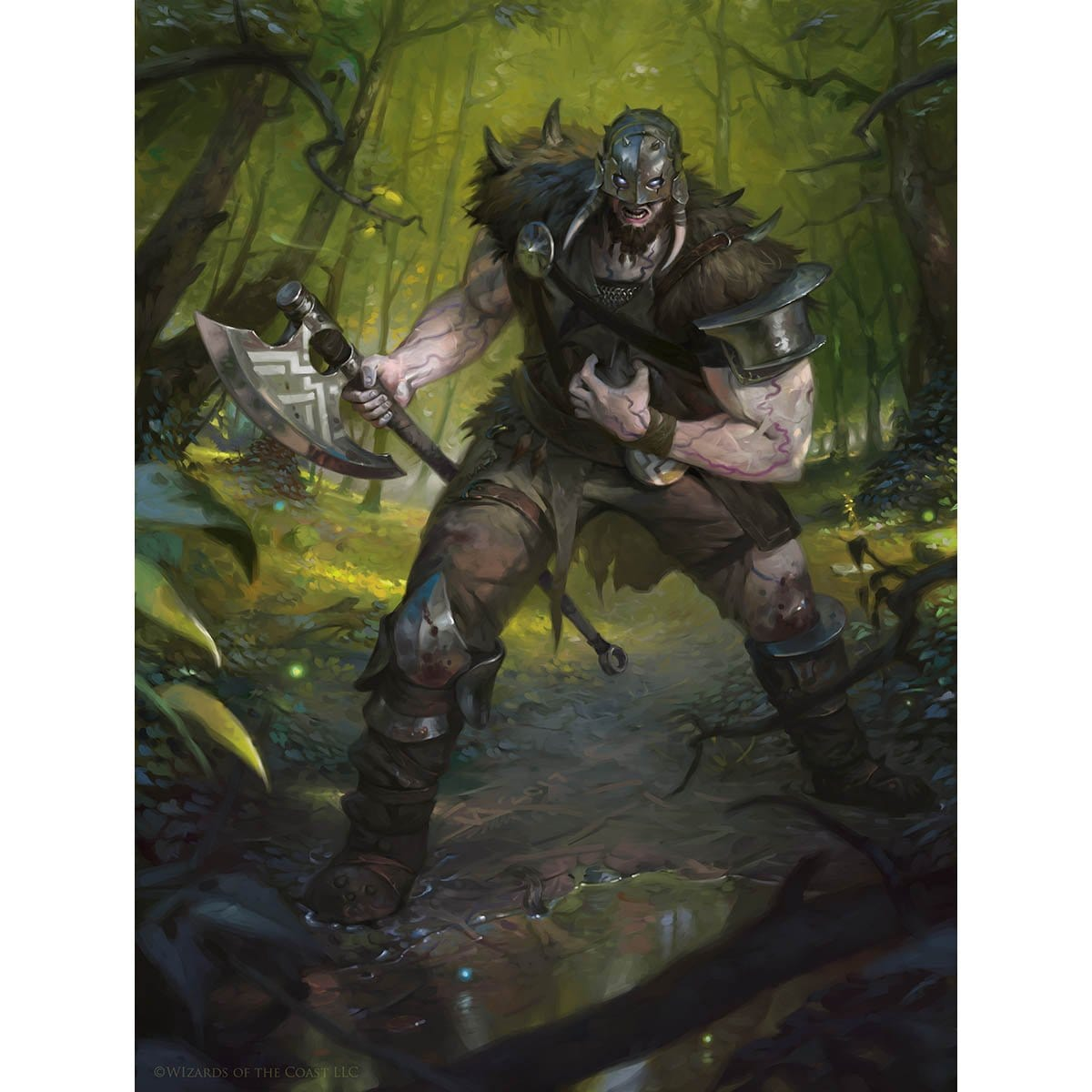 Garruk, Apex Preadtor Print - Print - Original Magic Art - Accessories for Magic the Gathering and other card games