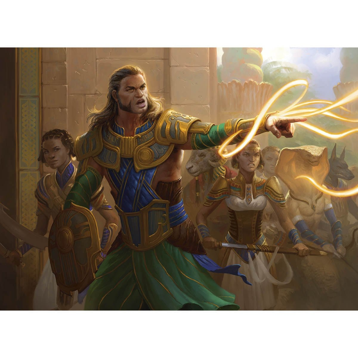 Gideon's Resolve Print - Print - Original Magic Art - Accessories for Magic the Gathering and other card games