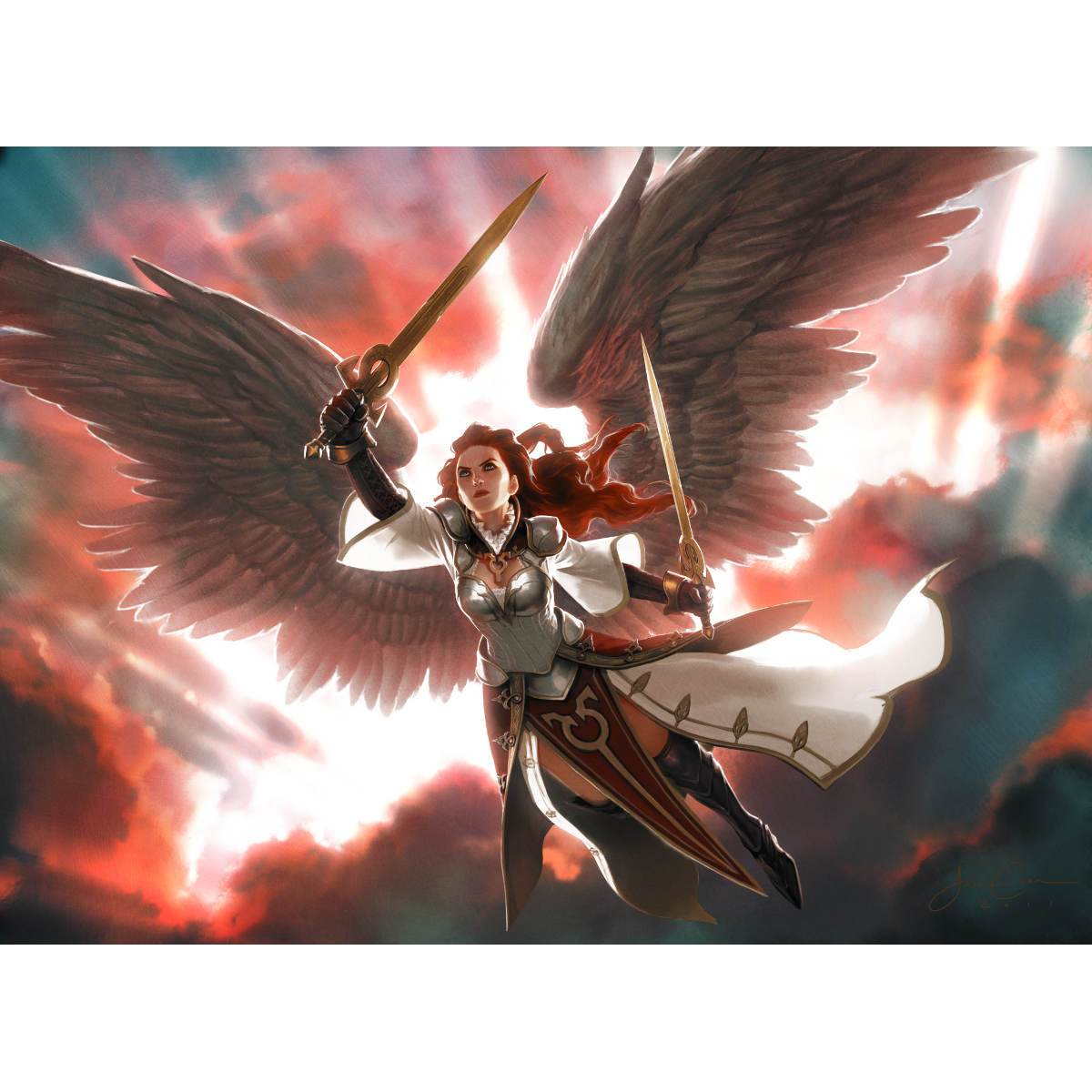 Gisela, Blade of Goldnight Print - Print - Original Magic Art - Accessories for Magic the Gathering and other card games