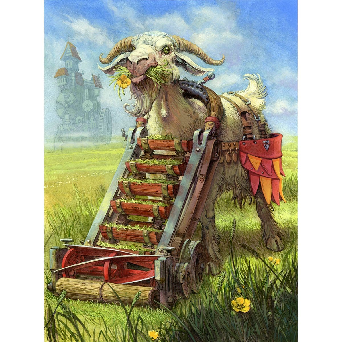 Goat Token Print - Print - Original Magic Art - Accessories for Magic the Gathering and other card games