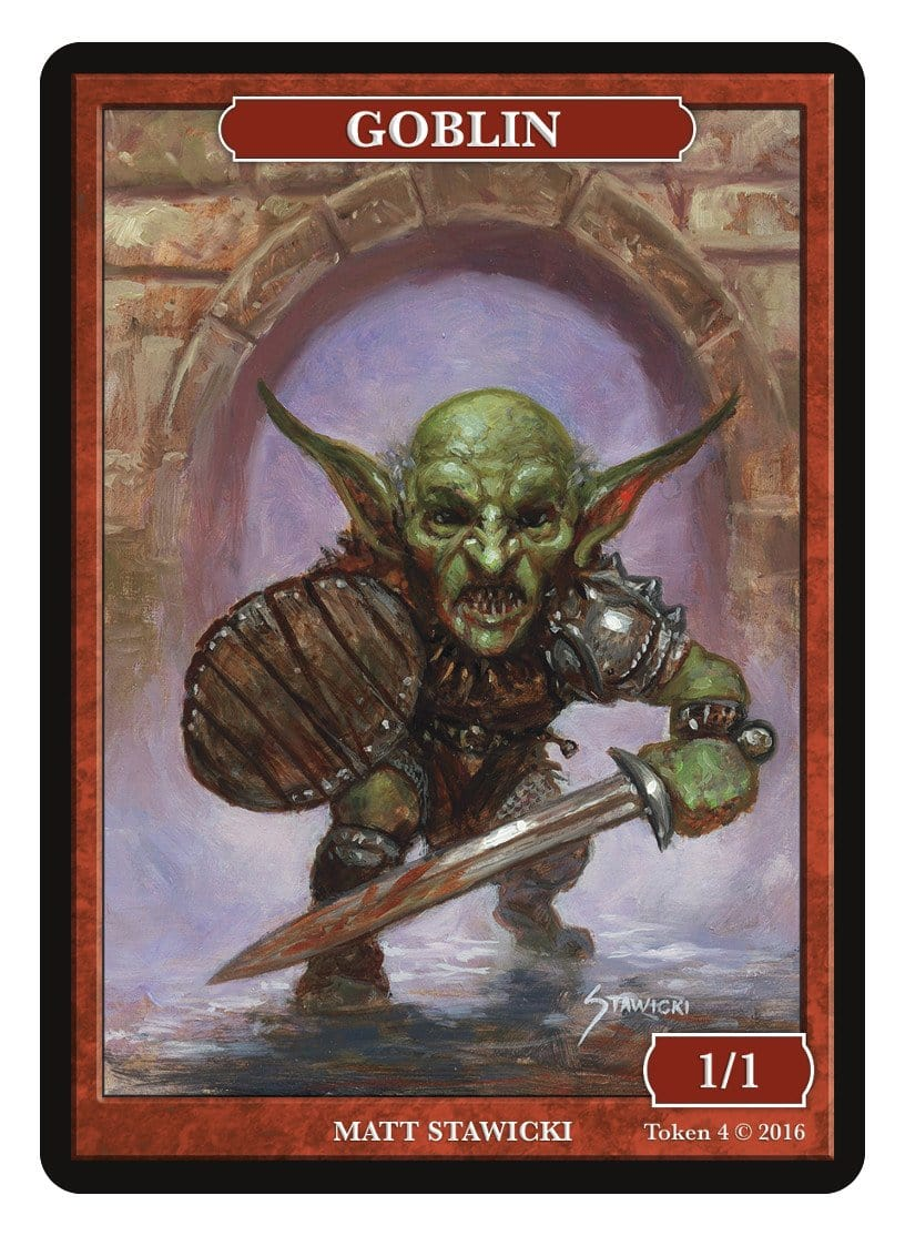 Goblin Token (1/1) by Matt Stawicki - Token - Original Magic Art - Accessories for Magic the Gathering and other card games