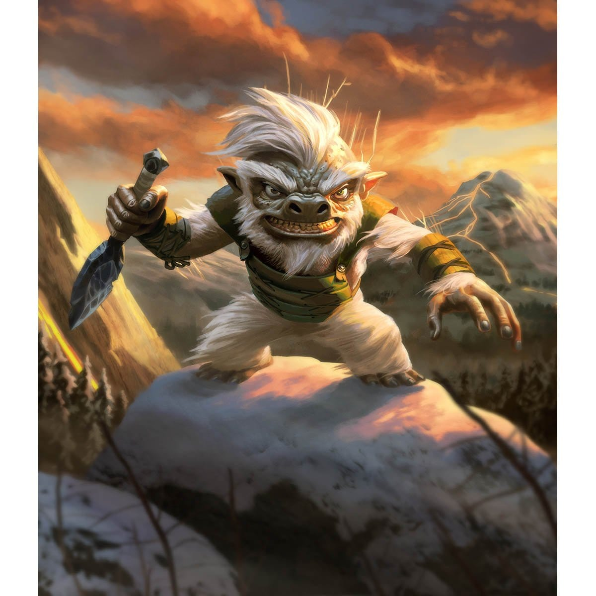 Goblin Token Print - Print - Original Magic Art - Accessories for Magic the Gathering and other card games