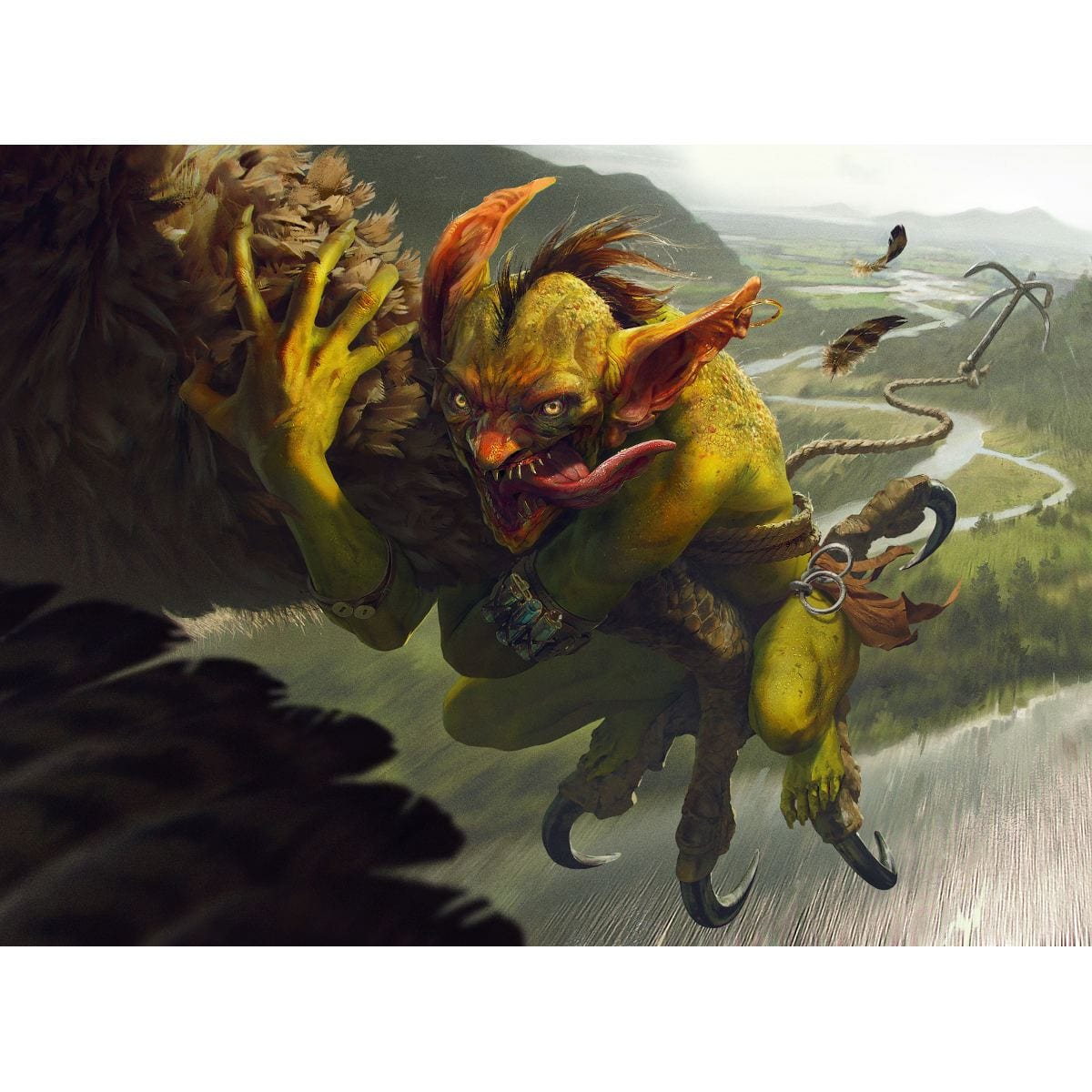 Goblin Bird-Grabber Print - Print - Original Magic Art - Accessories for Magic the Gathering and other card games