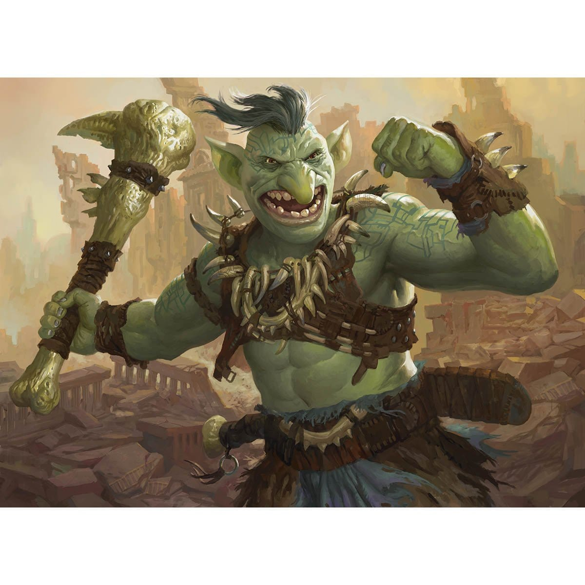 Goblin Bruiser Print - Print - Original Magic Art - Accessories for Magic the Gathering and other card games