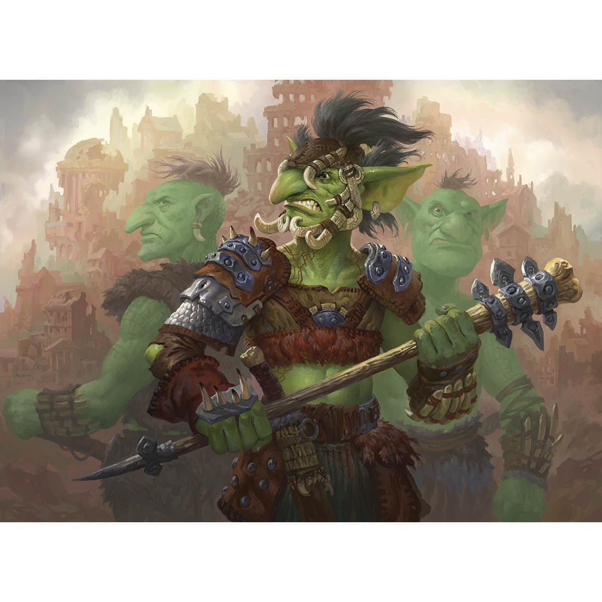 Goblin Gang Leader Print - Print - Original Magic Art - Accessories for Magic the Gathering and other card games