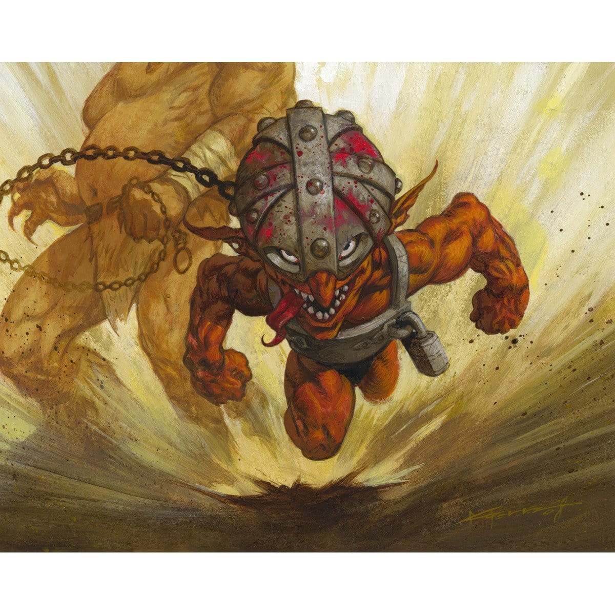 Goblin Lackey Print - Print - Original Magic Art - Accessories for Magic the Gathering and other card games