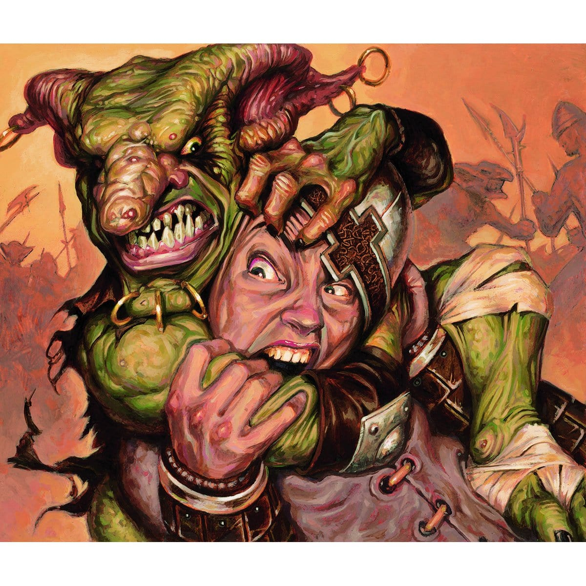 Goblin Piledriver Print - Print - Original Magic Art - Accessories for Magic the Gathering and other card games