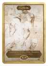 Golem Token (4/4) by Leonardo da Vinci - Token - Original Magic Art - Accessories for Magic the Gathering and other card games