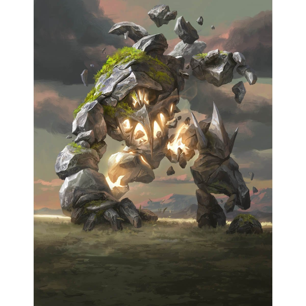 Golem Token Print - Print - Original Magic Art - Accessories for Magic the Gathering and other card games
