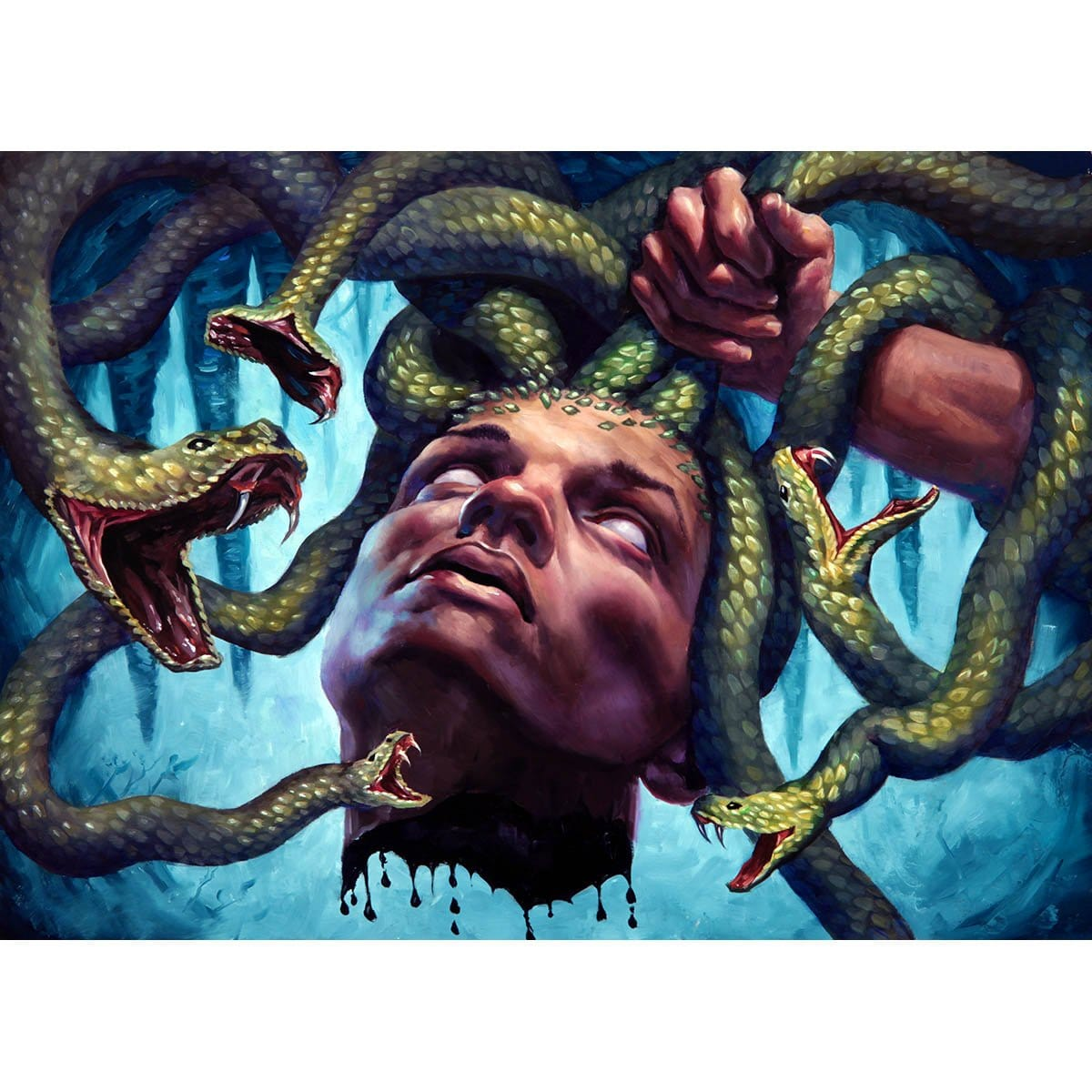 Gorgon's Head Print - Print - Original Magic Art - Accessories for Magic the Gathering and other card games