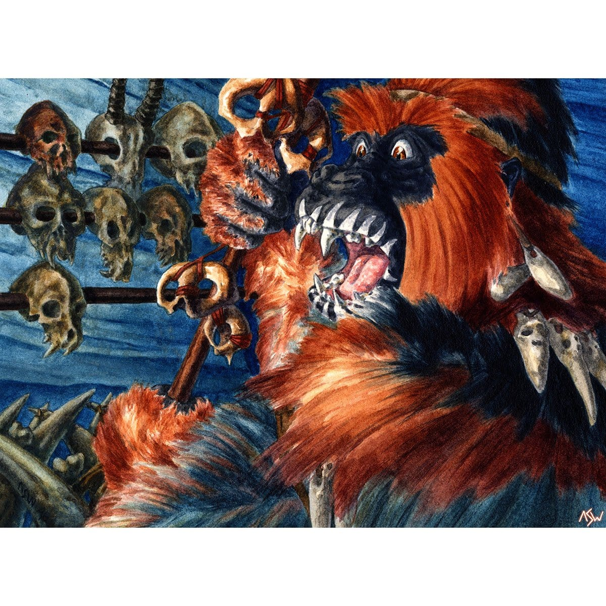 Gorilla Shaman Print - Print - Original Magic Art - Accessories for Magic the Gathering and other card games