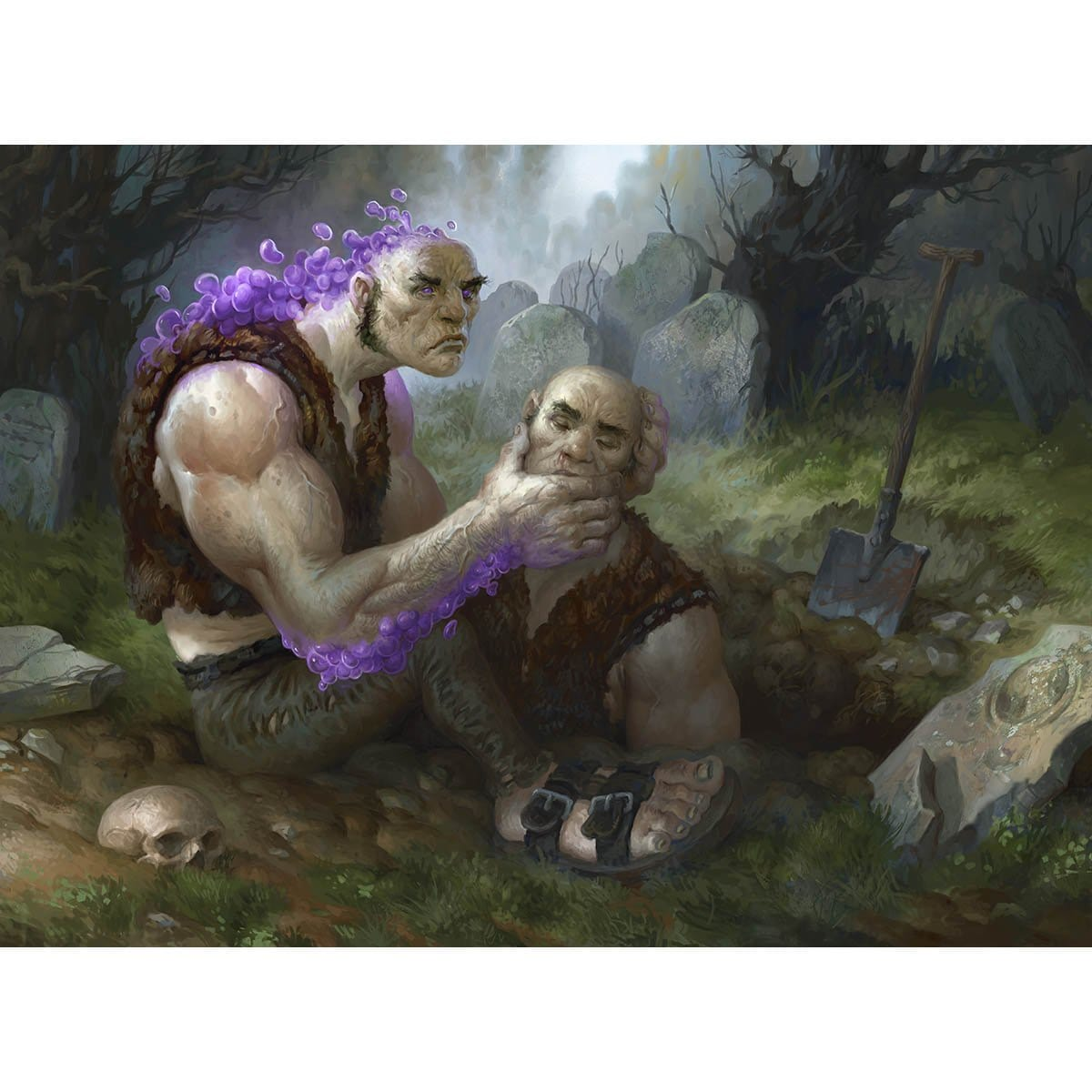 Graveshifterl Print - Print - Original Magic Art - Accessories for Magic the Gathering and other card games