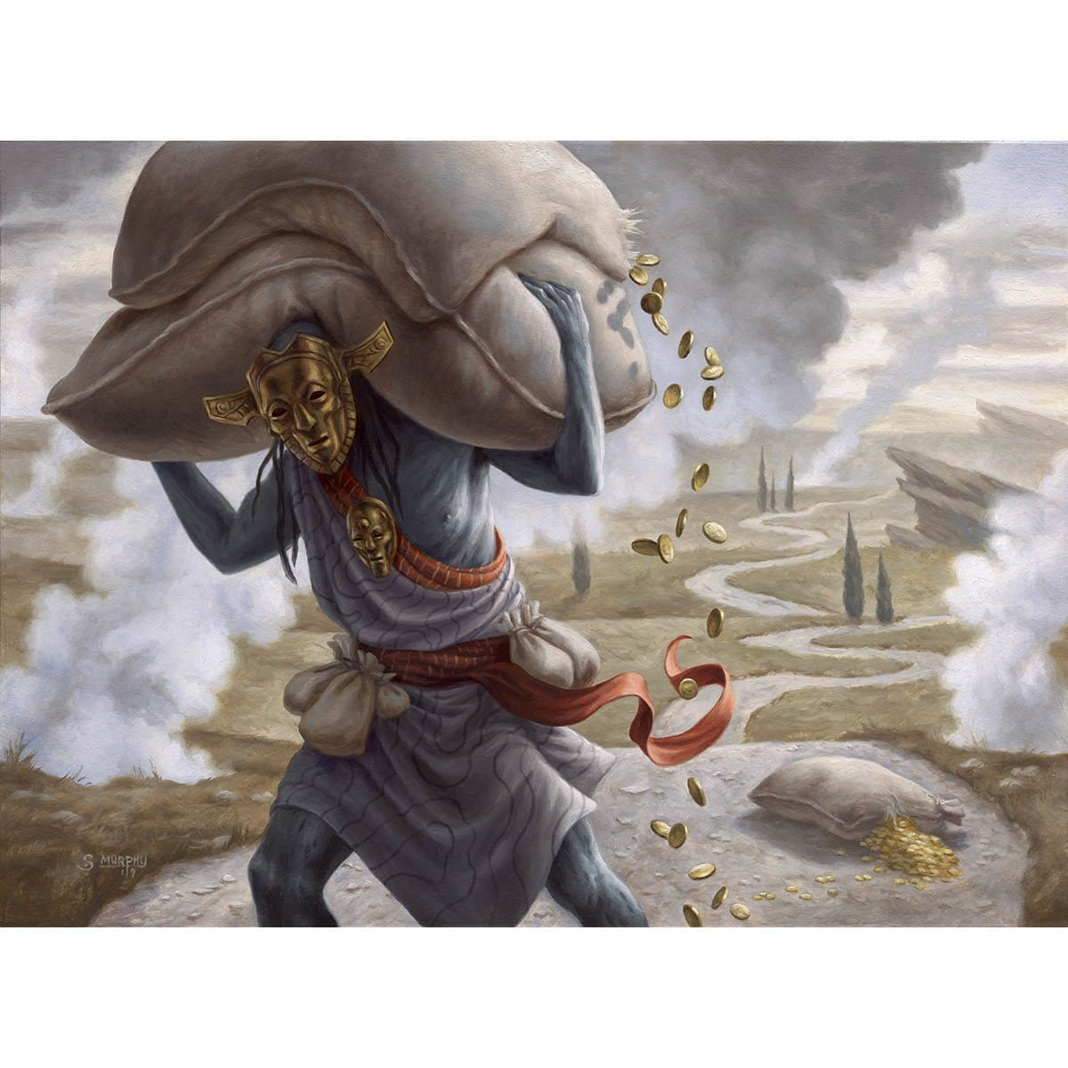 Gray Merchant of Asphodel Print - Print - Original Magic Art - Accessories for Magic the Gathering and other card games