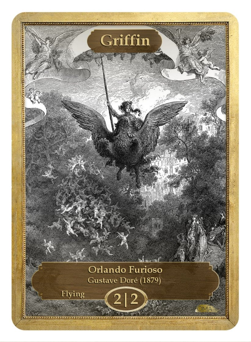 Griffin Token (2/2 - Flying) by Gustave Doré