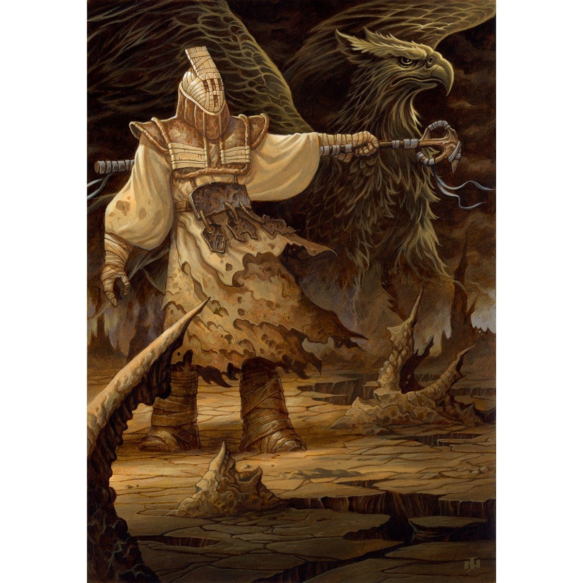 Griffin Guide Print - Print - Original Magic Art - Accessories for Magic the Gathering and other card games