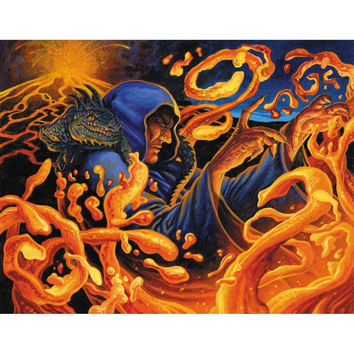 Grim Lavamancer Print - Print - Original Magic Art - Accessories for Magic the Gathering and other card games