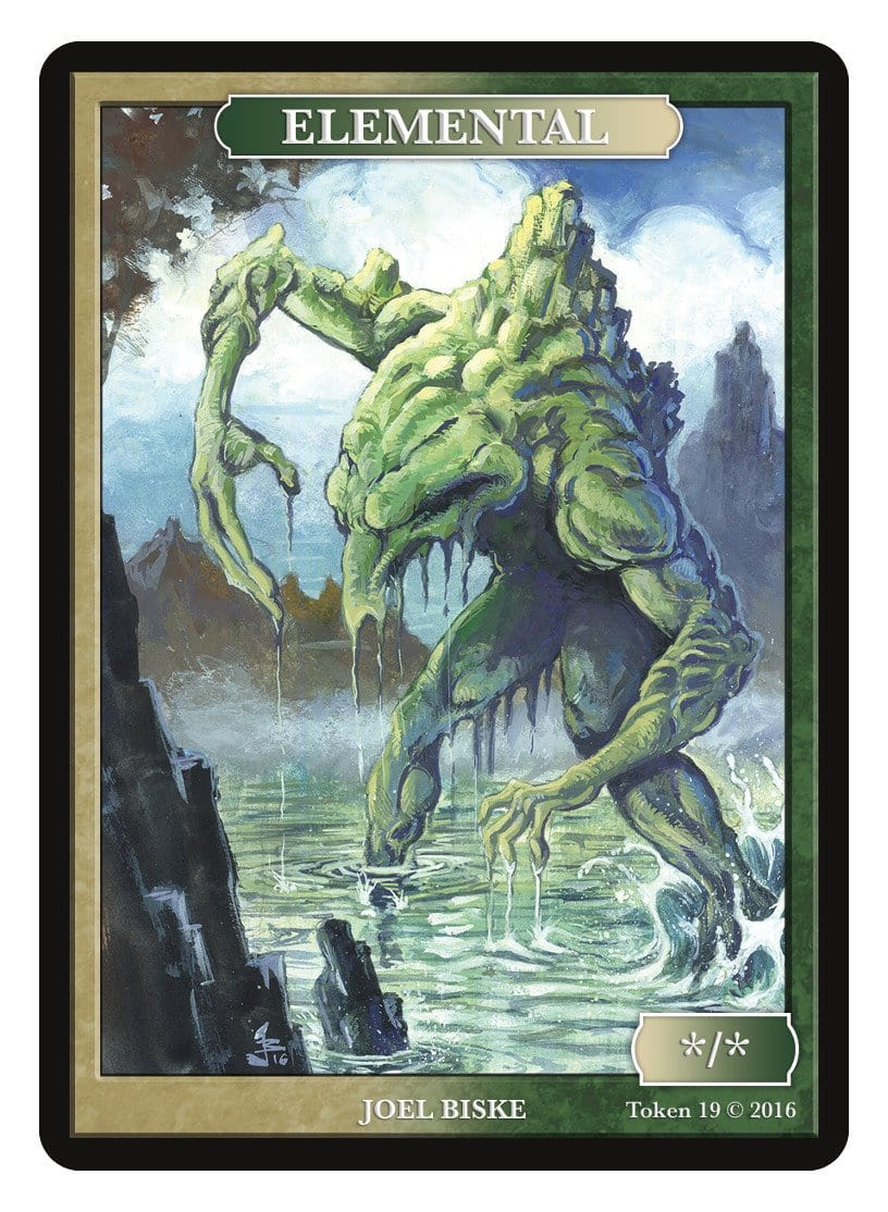 Elemental Token (*/*) by Joel Biske - Token - Original Magic Art - Accessories for Magic the Gathering and other card games